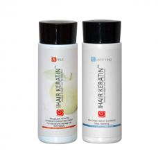 Kit iHair Keratin Apple +  Clarifying Shampoo Ihair Keratin  100ml