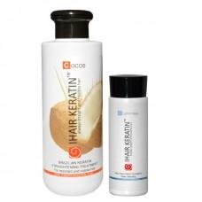 Kit iHair Keratin Cocos 250ml + Clarifying Shampoo Ihair Keratin