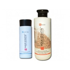 Kit iHair Keratin Kacao 250ml + Clarifying Shampoo Ihair Keratin