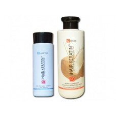 Kit iHair Keratin Cocos 250ml + Clarifying Shampoo Ihair Keratin